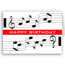 happy birthday musical notes clipart clipartxtras
