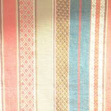 Discount Country Home Decor Gypsy Stripe Red Turquoise Khaki Fabric Store With