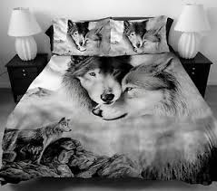 Wolf Bedding Set 3 Pcs 3d Wolf Bedding Set Outer Space Quilt Cover