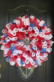 geo mesh wreath patriotic white and blue geo mesh wreath on sweet monkey