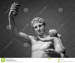 statue of hermes and young dionysus stock photo image 67190564