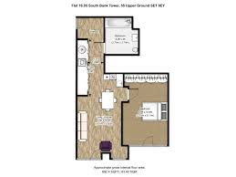 south bank tower 55 upper ground london se1 1 bedroom flat for