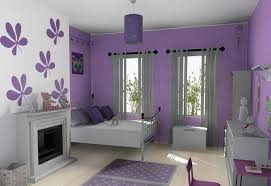 stylish teen girls room furniture sets with purple color schemes