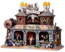 lemax spooky town lemax 05012 road kill roadhouse retired spooky town