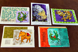 painted cards for sale priti lathia s handmade embellished cards for sale