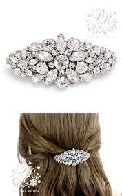 barrette clip wedding hair clip rhinestone hair clip barrette bridal hair comb