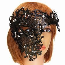venetian costume black venetian mask masquerade costume metal femal mask party