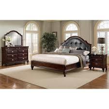 upholstered bedroom set manhattan 6 piece king upholstered bedroom set cherry value