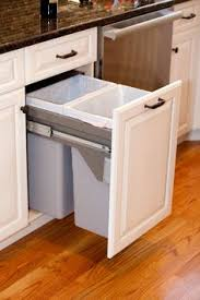 kitchen trash can ideas big plans budget tip out trash and recycling center