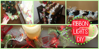 christmas diy ribbon tulle lights garland youtube