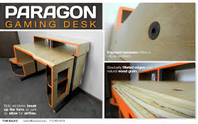 Wooden Gaming Desk by Paragon Gaming Desk By Tom Balko At Coroflot Com