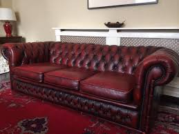 Cheap Red Leather Sofas by 3 Seater Oxblood Red Leather Chesterfield Sofa For Sale Home