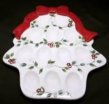 christmas deviled egg plate spode christmas tree deviled egg plate 10122365 ebay