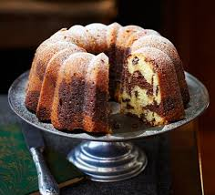 chocolate u0026 almond marbled bundt cake recipe bbc good food
