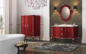 the best red bathroom theme design both in modern or classical