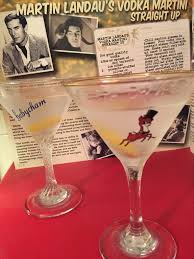 mini martini glasses martin landau u0027s vodka martini straight up silver screen suppers