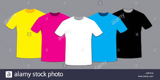 a vector cartoon representing a group of blank t shirts templates