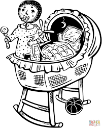 baby sleeping coloring page free printable coloring pages