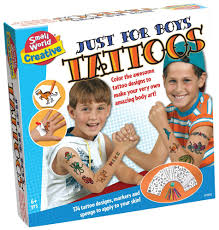 amazon com small world toys creative just for boys tattoos