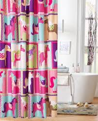 Childrens Shower Curtains by Gorgeous Colorful Polyester Kids Shower Curtain Cute Pony Pattern
