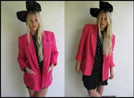80s headbands candice clark vintage 80 s hot pink blazer oversized bow