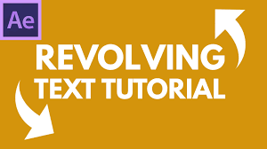 tutorial kinetic typography after effects after effects tutorial revolving 3d text rotating kinetic