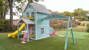girly extreme dollhouse with swing beam by imaginethatplayhouse