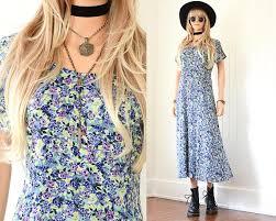 90s floral dress 90s grunge dress floral maxi dress