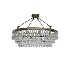 Glass Crystal Chandelier Drops Celeste Flush Mount Glass Drop Crystal Chandelier Antique Brass