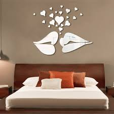 aliexpress com buy silver 3d mirror style lips hearts decal aliexpress com buy silver 3d mirror style lips hearts decal art mural wall stickers home bedroom office decor decoration decals from reliable wall