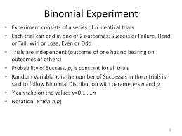 Binomial Tables Characteristics Of Binomial Distribution Business Statistics