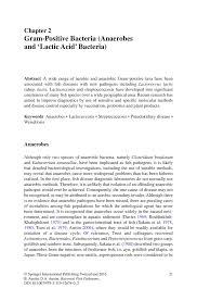 Chp Code 1141 by Gram Positive Bacteria Anaerobes And U0027lactic Acid U0027 Bacteria