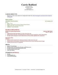 Resume Examples Work Experience by High Student Resume Examples No Work Experience Best