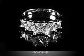 faux engagement rings 5 princess cut 2 carat cz engagement ring faux