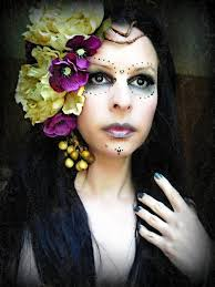 santa muerte deluxe performance costume calaca headdress