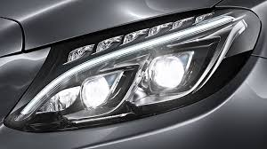 led intelligent light system mercedes benz digital light system can project images on the ground