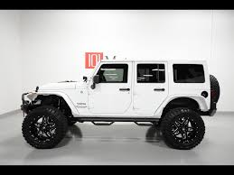 custom jeep white backyards jeep wrangler unlimited sahara