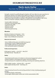 Samples Of Teacher Resumes by Kindergarten Teacher Resume Sample Resume Writing Service
