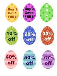 where to buy easter eggs easter eggs percentages bogo sale sign stock illustration