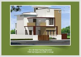 Row House Front Elevation - 20 x 40 duplex house plans south facing escortsea 3040 plan 3d