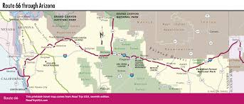 Grand Canyon Map Usa by Driving Route 66 Through Arizona Road Trip Usa