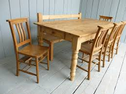 Pine Kitchen Tables And Chairs by Antique Kitchen Table With Bench Video And Photos