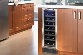 stainless steel bar fridge glass door dwc276bls silhouette 27 bottle built in wine cooler with stainless