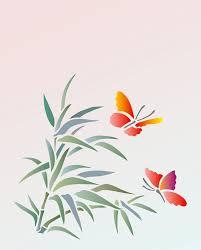bamboo u0026 butterfly stencil henny donovan motif