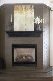 fresh gray painted fireplace decorating ideas contemporary