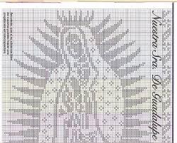 imagenes religiosas a crochet diseño mariano crochet religioso pinterest crochet filet