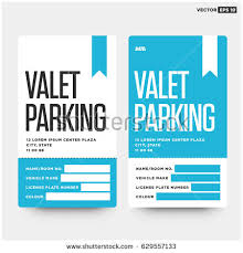 Car Name Card Design Valet Parking Card Design Car Name Stock Vector 629557133