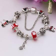 bracelet murano images Meekuo handmade diy murano glass beads mickey charm bracelet women jpg