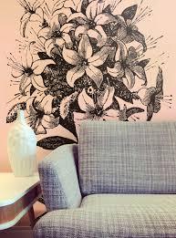 wall mural ideas diy inspiration for home decor floral wallpaper mural