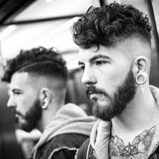 curly shaved side hair short curly hair for men 50 dapper hairstyles